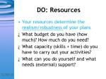 do resources
