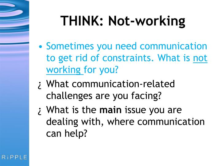 THINK: Not-working