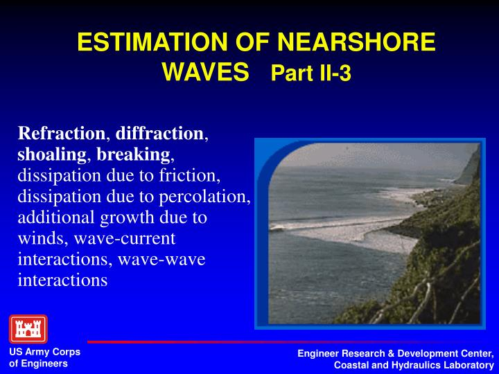 ESTIMATION OF NEARSHORE WAVES