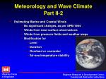 meteorology and wave climate part ii 2