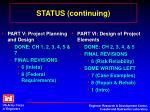 status continuing