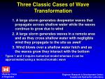 three classic cases of wave transformation