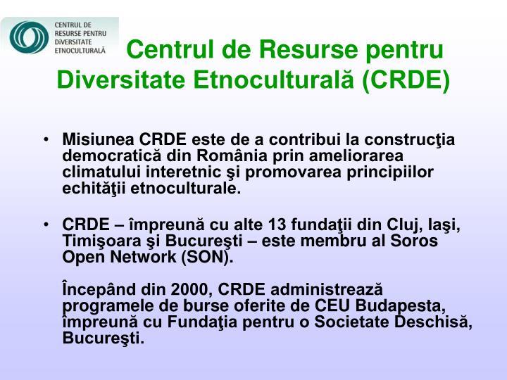 Centrul de Resurse pentru Diversitate Etnoculturală (CRDE)