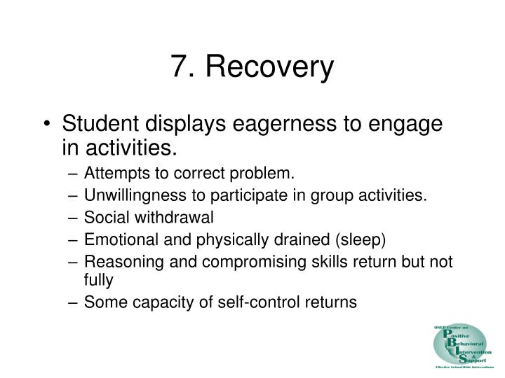 7. Recovery