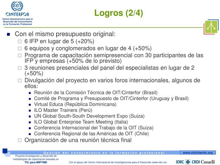 Logros (2/4)