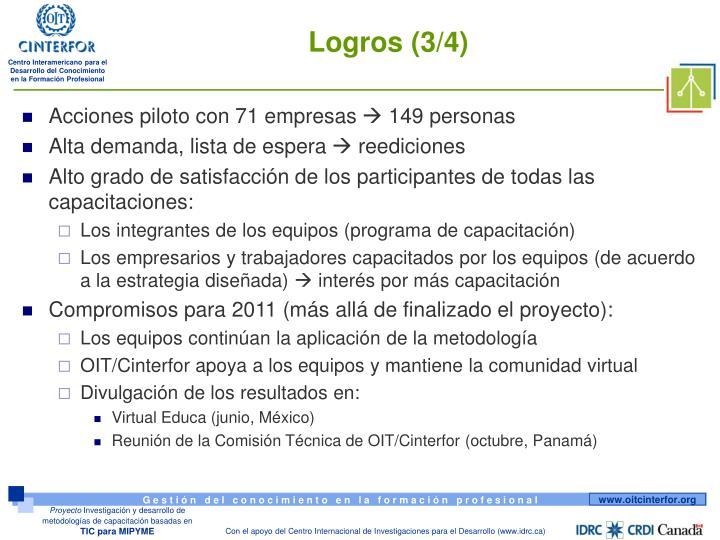 Logros (3/4)