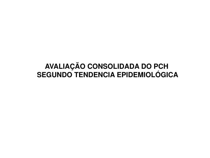 AVALIAÇÃO CONSOLIDADA DO PCH