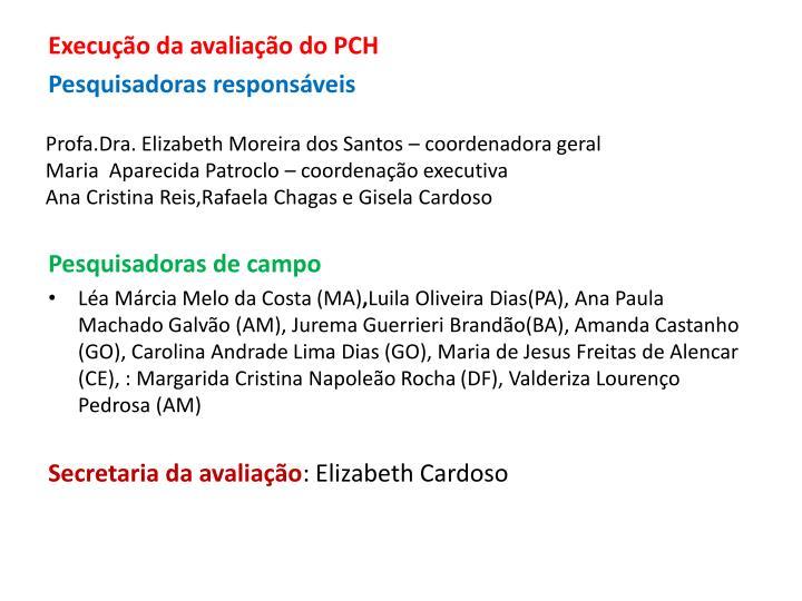 Profa.Dra. Elizabeth Moreira dos Santos – coordenadora geral