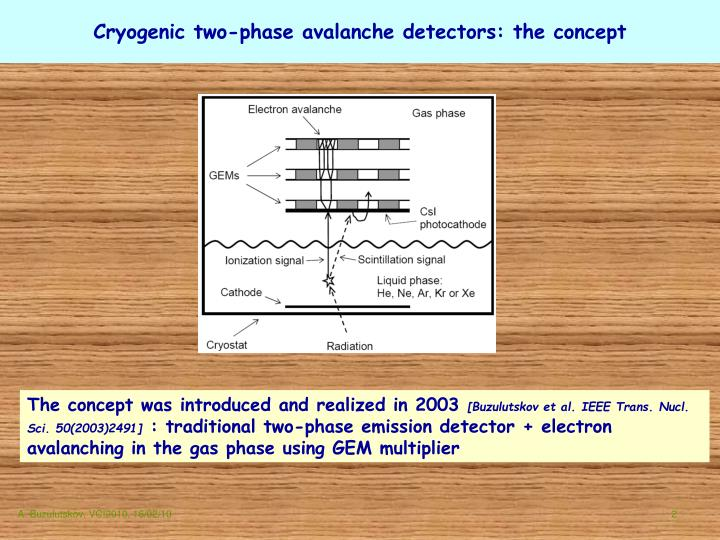 Cryogenic two-phase avalanche detectors: the concept