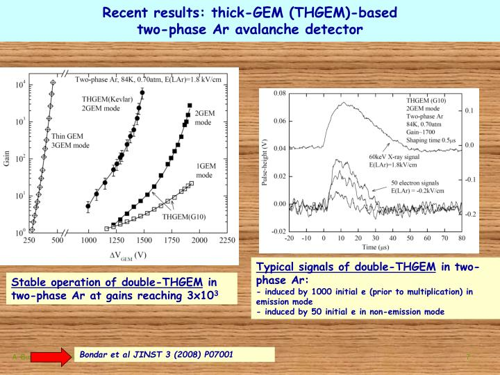 Recent results: thick-GEM (THGEM)-based