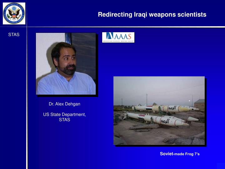 Redirecting Iraqi weapons scientists