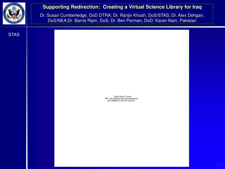 Supporting Redirection:  Creating a Virtual Science Library for Iraq