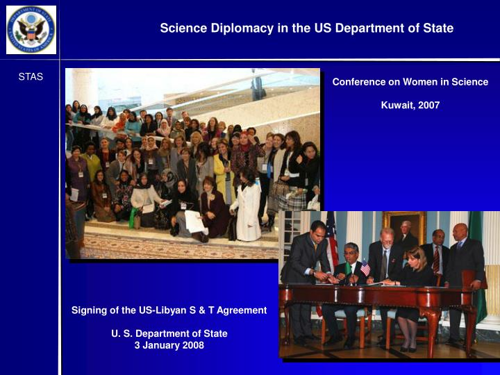 Signing of the US-Libyan S & T Agreement