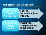 pathology s two challenges