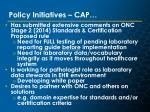 policy initiatives cap