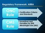 regulatory framework arra