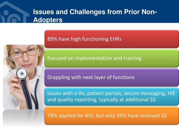 Issues and Challenges from Prior Non-Adopters