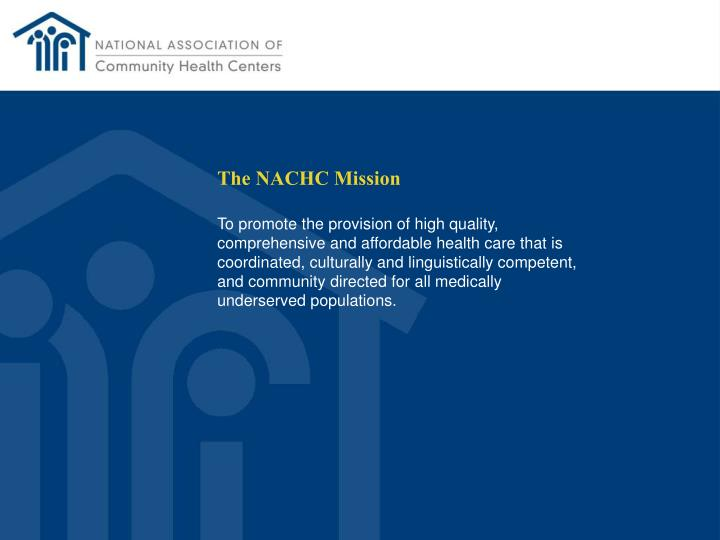 The NACHC Mission