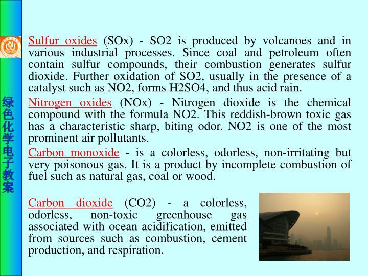Sulfur oxides