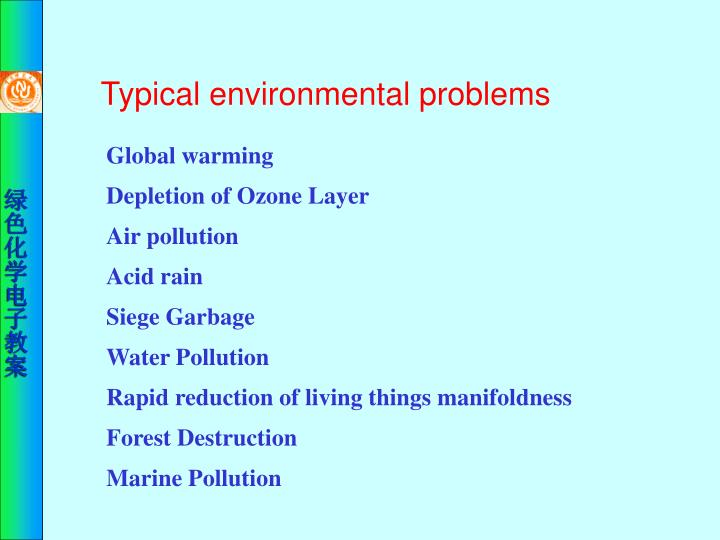 Typical environmental problems