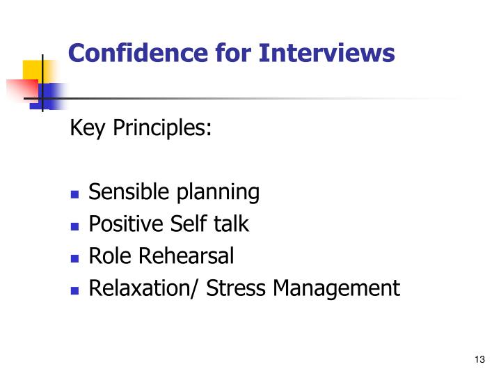 Confidence for Interviews