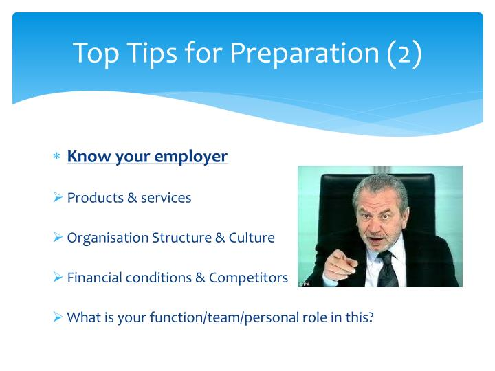 Top Tips for Preparation (2)
