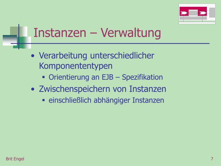 Instanzen – Verwaltung