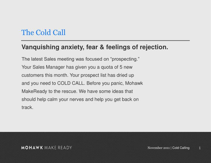 The cold call