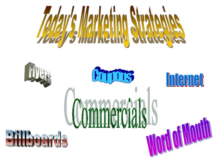 Today's Marketing Strategies