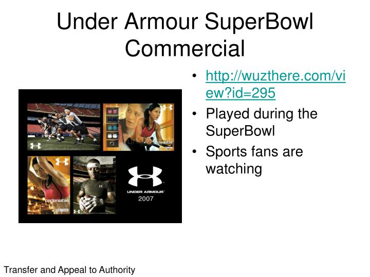 Under Armour SuperBowl Commercial
