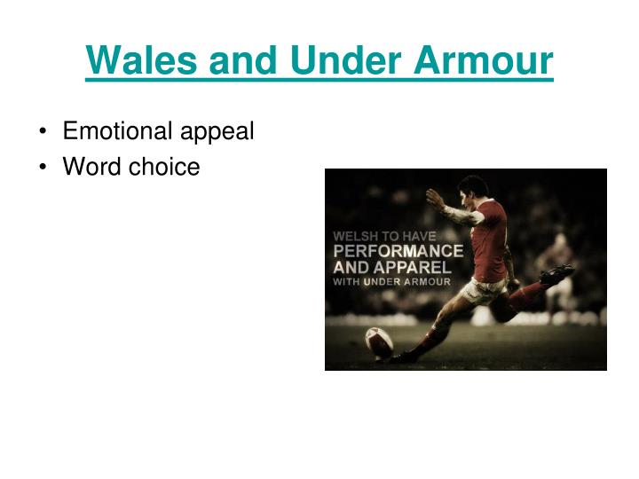 Wales and Under Armour
