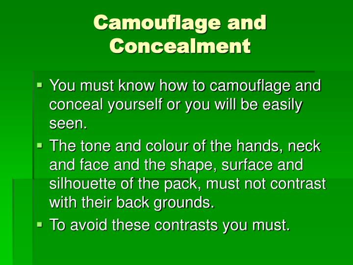 Camouflage and Concealment