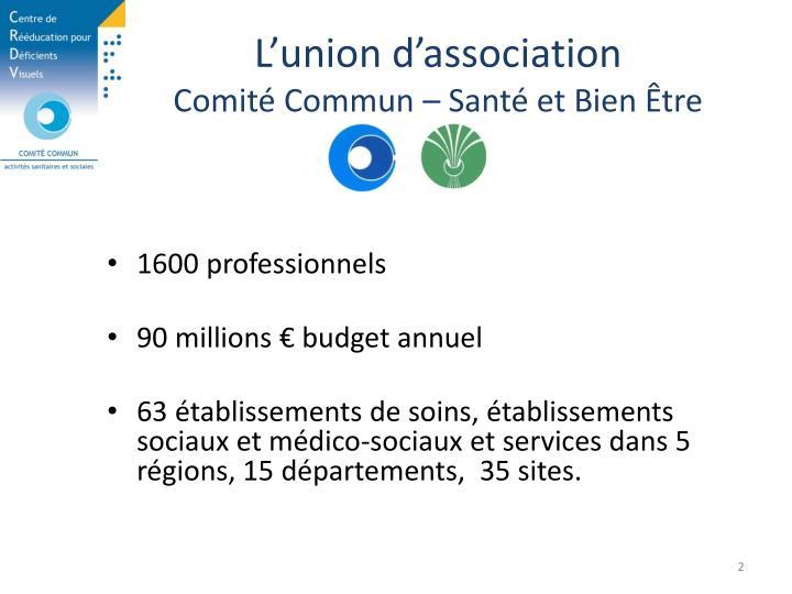 L'union d'association