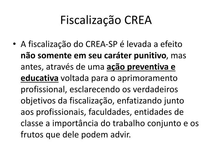Fiscalização CREA