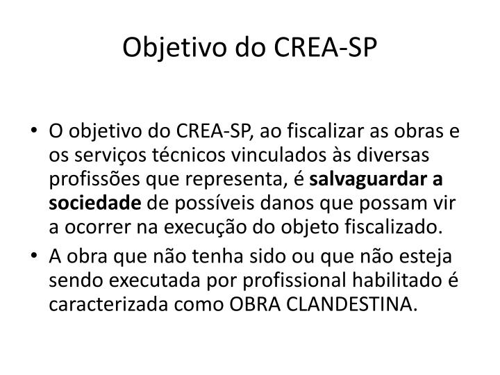 Objetivo do CREA-SP