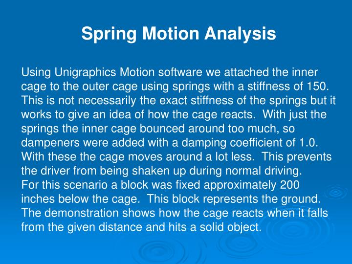 Spring Motion Analysis