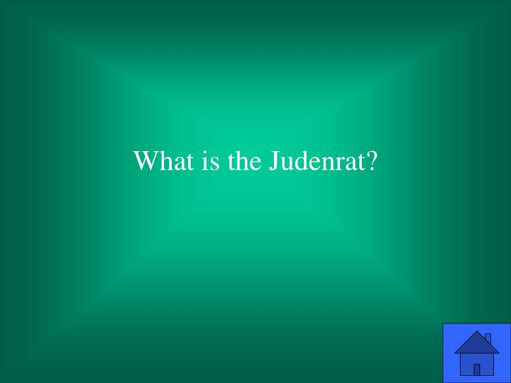 What is the Judenrat?