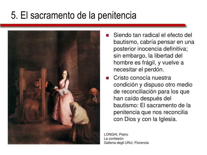 5. El sacramento de la penitencia