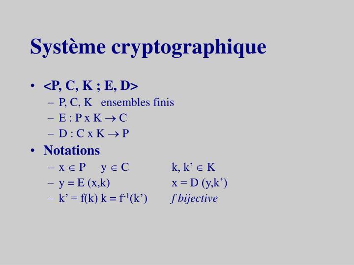 Système cryptographique