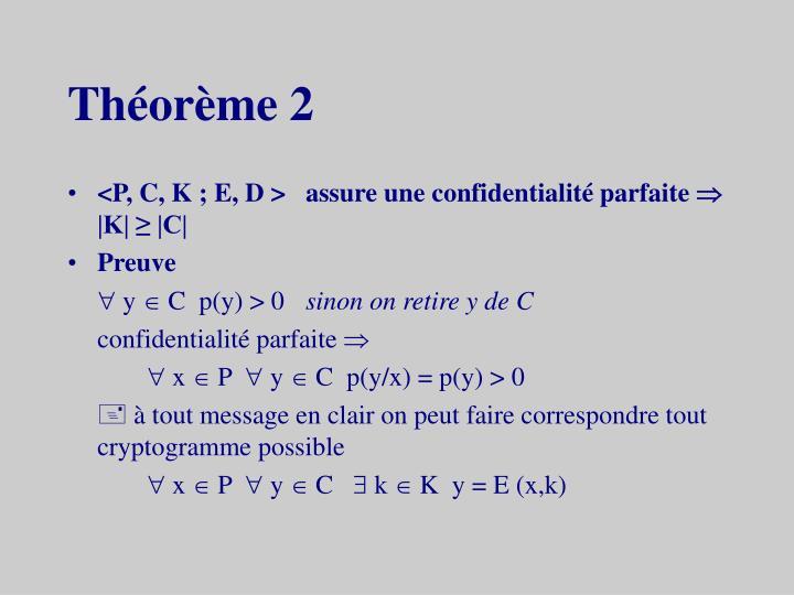 Théorème 2