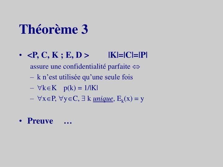 Théorème 3