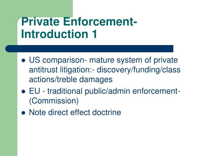 Private Enforcement- Introduction 1