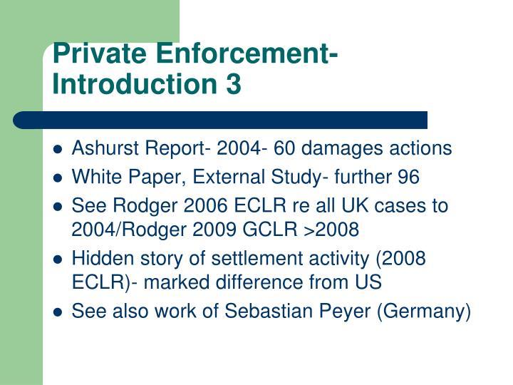 Private Enforcement- Introduction 3