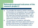 rationale proposed outcomes of the research project 2