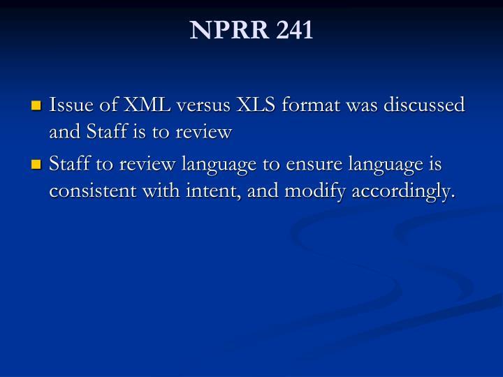 NPRR 241