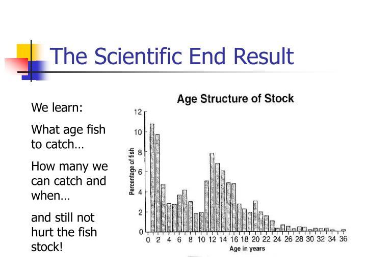The Scientific End Result