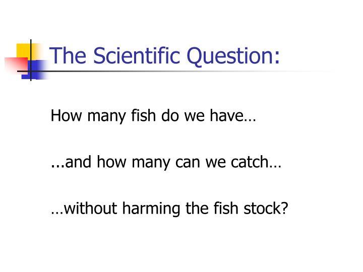 The Scientific Question: