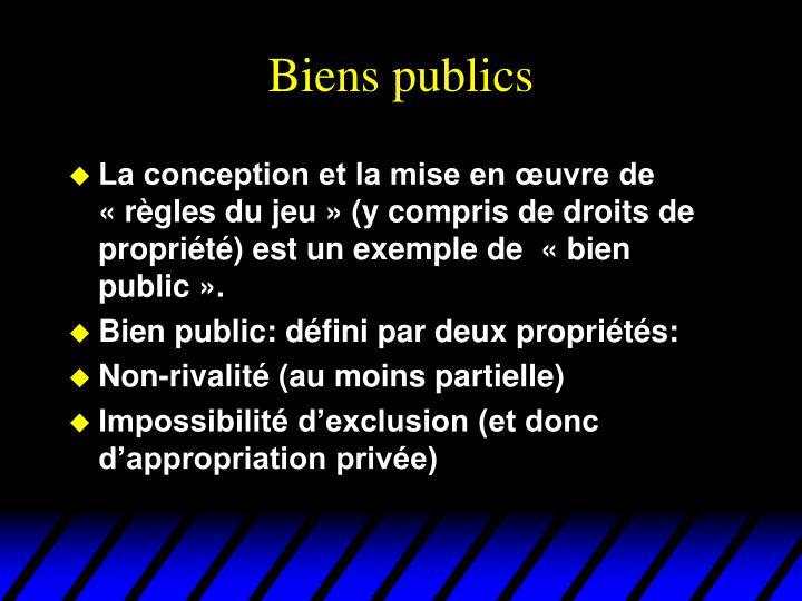 Biens publics