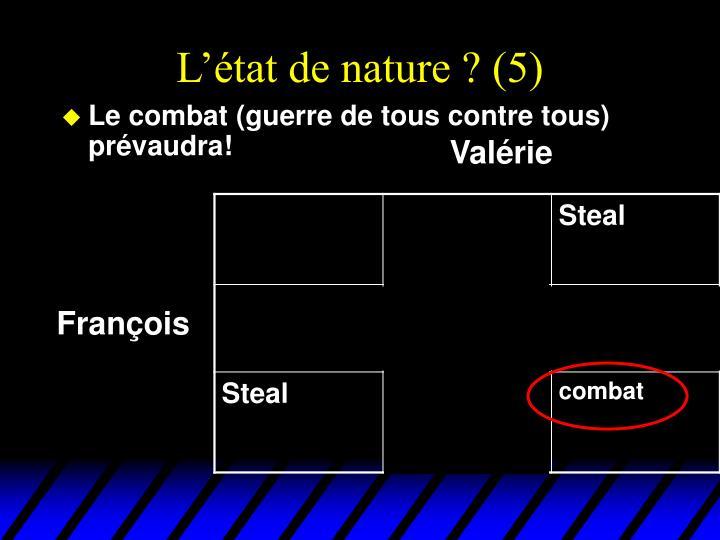 L'état de nature ? (5)