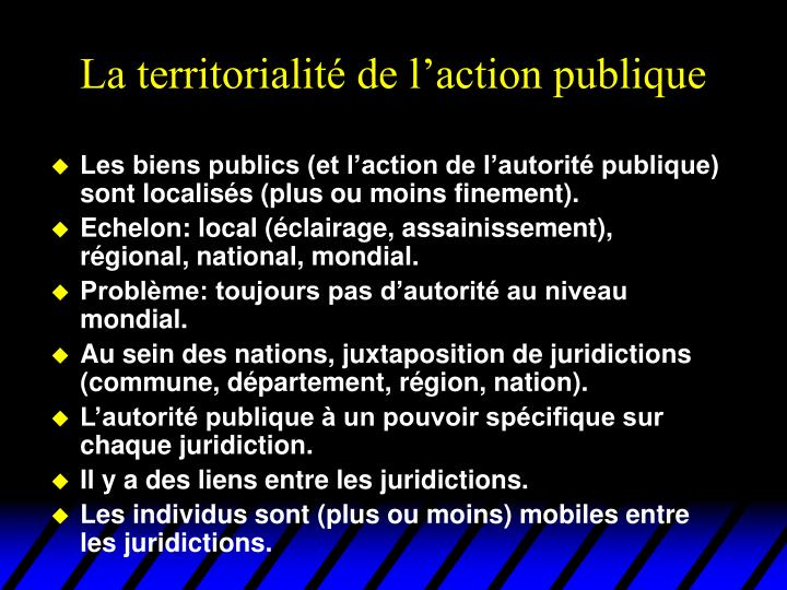 La territorialité de l'action publique